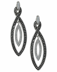 Montana Silversmiths Crystal Drop Earrings- Silver