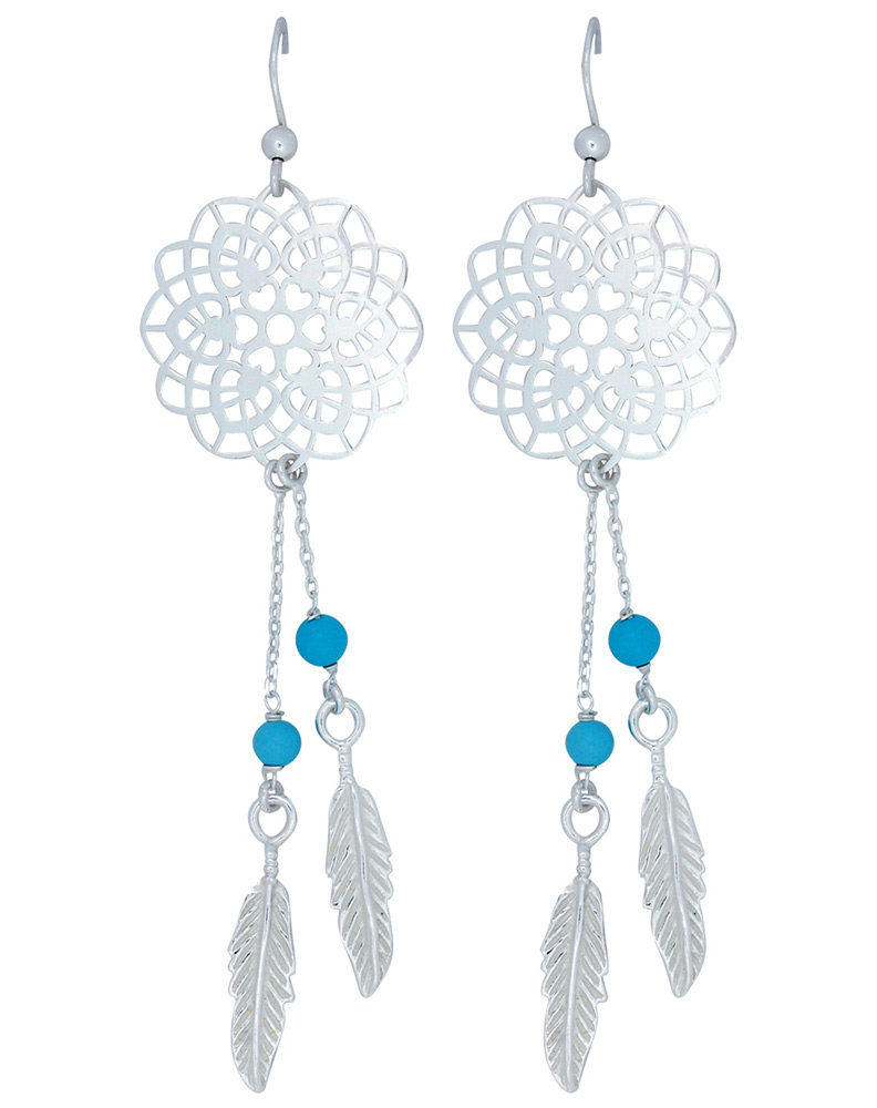 Montana Silversmiths Dream Catcher Earrings Silver