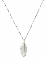 Montana Silversmiths Feather Pendant Necklace- Silver
