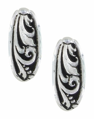 Montana Silversmiths Floral Half Hoop Earrings- Silver