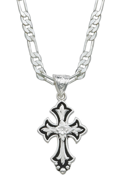 Montana silversmiths flower on silver and black cross fluery aloadofball Image collections