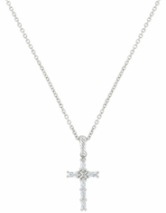 Montana Silversmiths Stone Cross Necklace - Silver