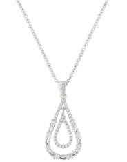 Montana Silversmiths Women's Teardrop Necklace - Silver