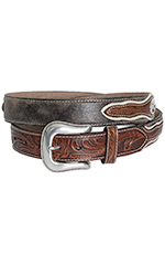 Nocona Mens Cowboy Prayer Concho Belt - Brown