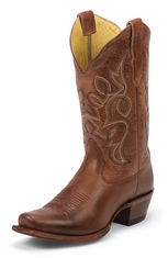Nocona Womens Snip Toe Cowboy Boots - Honey Vaquero (Closeout)