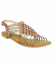 Not Rated Women's Iron Gate Rhinestone Sandal - Nude