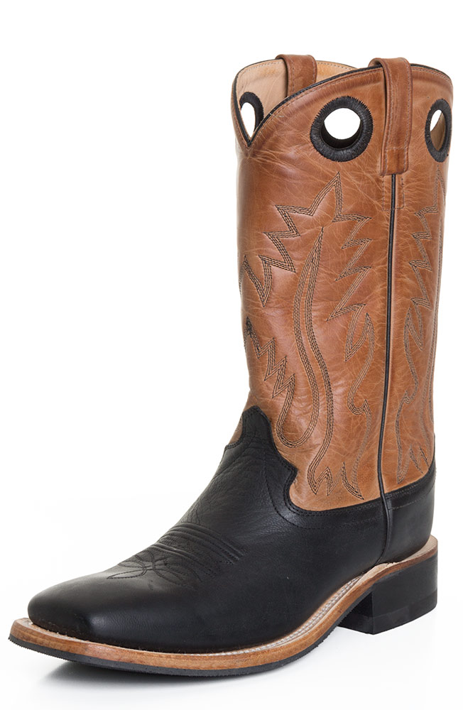 west mens 13 quot square toe leather western boots brown