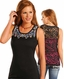 Panhandle Women's Sleeveless Beaded Top - Black (Closeout)