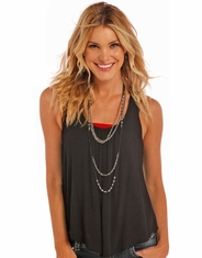 Panhandle Women's Sleeveless Solid Tank Top - Black (Closeout)