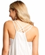 Panhandle Women's Sleeveless Spaghetti Strap Embroidered Top - Natural (Closeout)