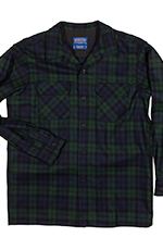 Pendleton Mens Long Sleeve Board Shirt - Black Watch Tartan