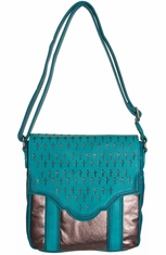 Rock 47 Womens Rylee Crossbody Bag - Chocolate Shimmer (Closeout)
