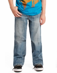 Rock & Roll Cowboy Boy's Mid Rise Regular Fit Boot Cut Jeans- Light Vintage (Closeout)