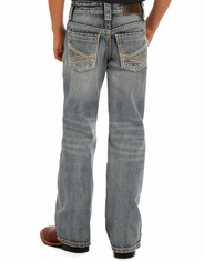 Rock & Roll Cowboy Boy's Mid Rise Regular Fit Boot Cut Jeans - Medium Vintage (Closeout)