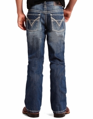 Rock & Roll Cowboy Boy's Mid Rise Regular Fit Boot Cut Jeans- Medium Vintage (Closeout)