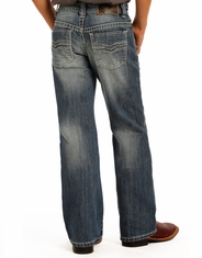 Rock & Roll Cowboy Boy's Mid Rise Regular Fit Boot Cut Jeans - Medium Wash (Closeout)