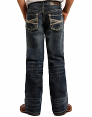 Rock & Roll Cowboy Boy's Regular Fit Jeans - Dark Vintage