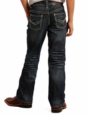 Rock & Roll Cowboy Boy's Regular Fit Jeans - Dark Wash (Closeout)