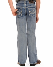 Rock & Roll Cowboy Boy's Regular Fit Jeans - Light Wash (Closeout)