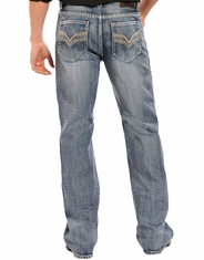 Rock & Roll Cowboy Men's Cannon Straight Leg Jeans - Medium Vintage