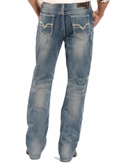 Rock & Roll Cowboy Men's Double Barrel Boot Cut Jeans - Light Vintage Wash