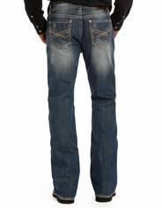 Rock & Roll Cowboy Men's Double Barrel Boot Cut Jeans - Medium Vintage