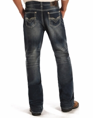 Rock & Roll Cowboy Men's Double Barrel Low Rise Relaxed Fit Straight Leg Jeans - Dark Vintage (Closeout)