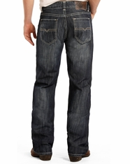 Rock & Roll Cowboy Men's Double Barrel Low Rise Relaxed Fit Straight Leg Jeans - Dark Wash (Closeout)