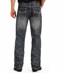 Rock & Roll Cowboy Men's Double Barrel Low Rise Relaxed Fit Straight Leg Jeans - Medium Vintage (Closeout)