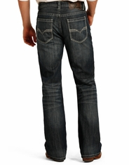 Rock & Roll Cowboy Men's Double Barrel Relaxed Fit Boot Cut Jeans - Dark Vintage