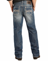Rock & Roll Cowboy Men's Double Barrel Straight Leg Jeans - Medium Wash