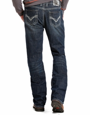 Rock & Roll Cowboy Men's Fire Resistant Double Barrel Relaxed Fit Boot Cut Jeans - Dark Wash