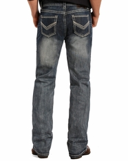 Rock & Roll Cowboy Men's Flex Pistol Low Rise Regular Fit Straight Leg Jeans - Medium Vintage