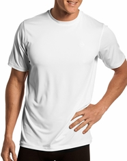 Rock & Roll Cowboy Men's Performance Crew Neck T-Shirt - White
