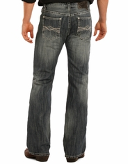 Rock & Roll Cowboy Men's Pistol Boot Cut Jeans - Medium Wash
