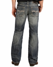 Rock & Roll Cowboy Men's Pistol Low Rise Regular Fit Boot Cut Jeans - Medium Vintage (Closeout)