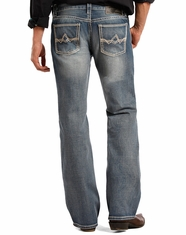 Rock & Roll Cowboy Men's Pistol Low Rise Regular Fit Boot Cut Jeans - Medium Wash (Closeout)
