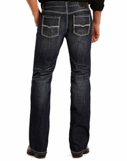 Rock & Roll Cowboy Men's Pistol Low Rise Regular Fit Straight Leg Jeans - Dark Vintage