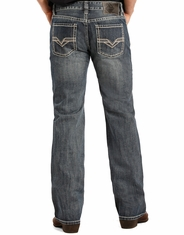 Rock & Roll Cowboy Men's Pistol Straight Leg Jeans - Medium Vintage (Closeout)