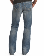 Rock & Roll Cowboy Men's Relaxed Fit Boot Cut Jeans-Vintage Wash (Closeout)