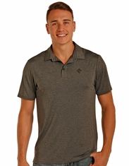 Rock & Roll Cowboy Men's Short Sleeve Heathered Polo Shirt - Grey