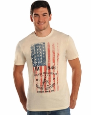 Rock & Roll Cowboy Men's Short Sleeve Logo T-Shirt - Natural (Closeout)