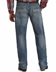 Rock & Roll Cowboy Men's Tuff Cooper Competiton Fit Straight Leg Jeans-Medium Wash