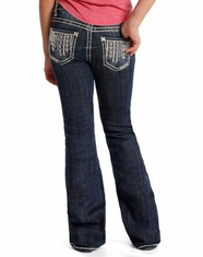 Rock & Roll Cowgirl Girl's Boot Cut Jeans - Dark Vintage (Closeout)