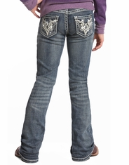 Rock & Roll Cowgirl Girl's Low Rise Bootcut Jeans -Medium Vintage