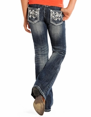 Rock & Roll Cowgirl Girl's Low Rise Bootcut Jeans -Medium Vintage (Closeout)