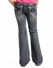 Rock & Roll Cowgirl Girl's Low Rise Slim Fit Bootcut Jeans - Medium Vintage (Closeout)
