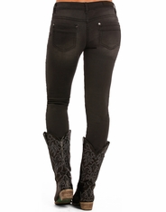 Rock & Roll Cowgirl Women's Low Rise Skinny Jeans - Charcoal Wash (Closeout)