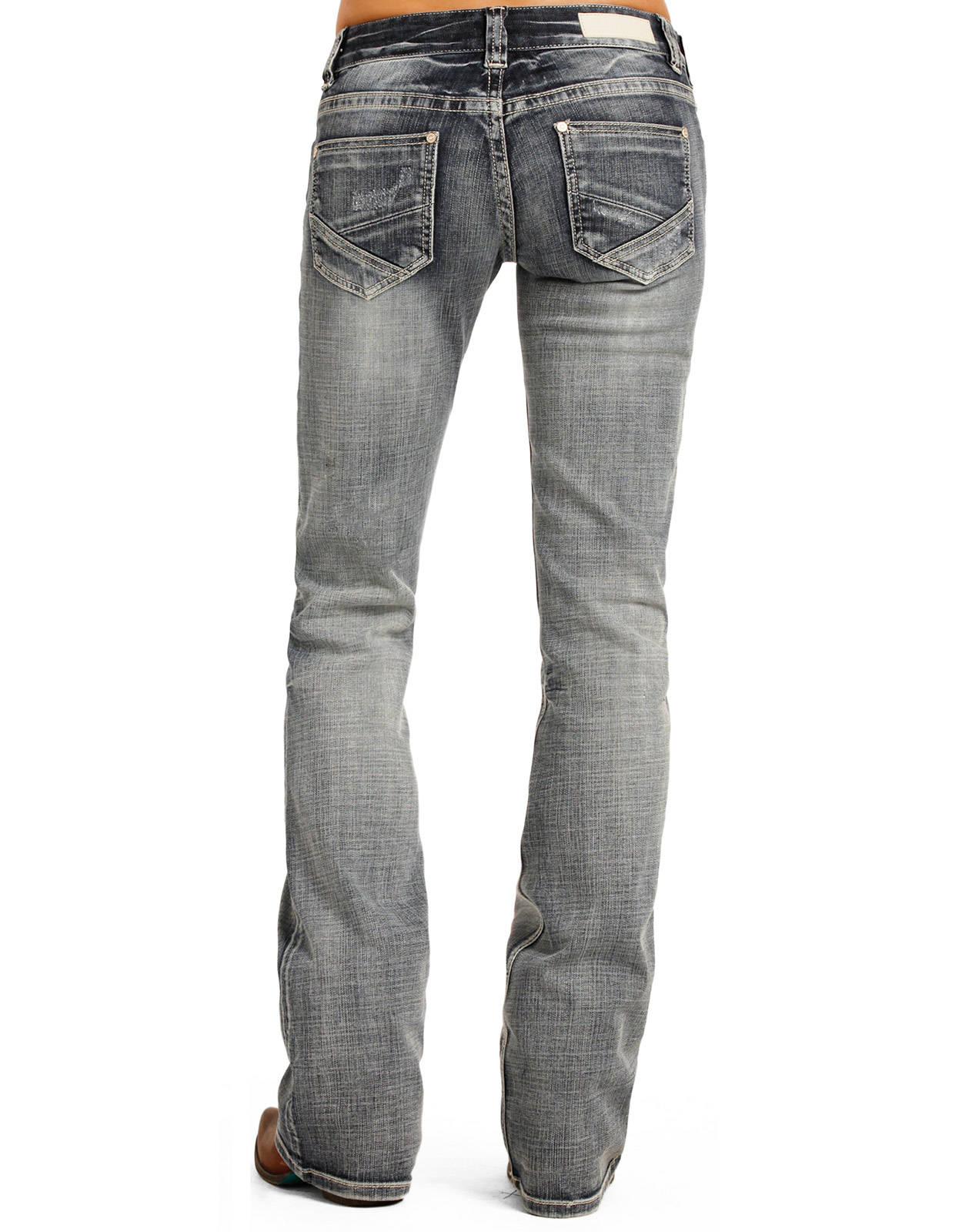 Low rise slim boot cut jeans