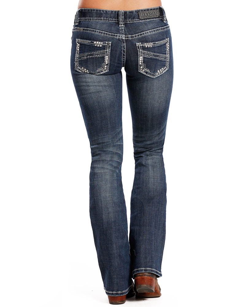 Slim Fit Bootcut Jeans Womens Ye Jean